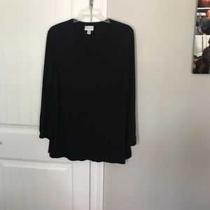 SUPER CUTE SOLID BLACK TOP BY AVA VIV SIZE 2x